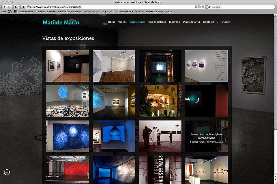 Matilde Marín web / Expos