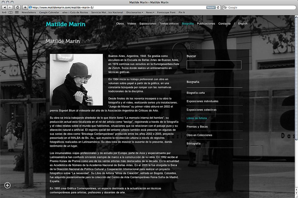Matilde Marín web / Bio